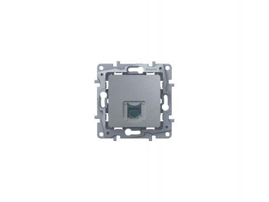 Розетка информационная Legrand Etika RJ11 алюминий 672440