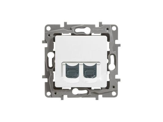 Розетка информационная Legrand Etika RJ11+RJ45 кат. 5 UTP белый 672252
