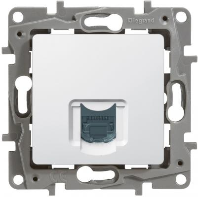 Розетка информационная Legrand Etika RJ45 кат.5 UTP белый 672241 розетка для витой пары rj45 8p8c кат 5
