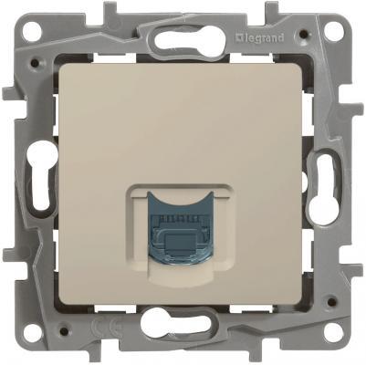 Розетка информационная Legrand Etika RJ45 кат.6 UTP слоновая кость 672353 розетка itk для rj45 utp кат 5е 1 выход белый cs2 1c5eu 12