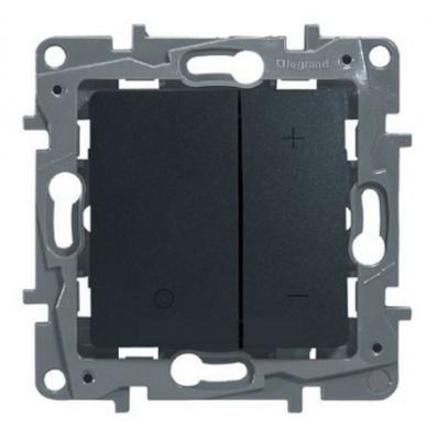 Светорегулятор Legrand ETIKA нажимной 400Вт антрацит 672618