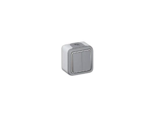 Переключатель Legrand Plexo 2 клавиши 10А белый 69715  монтажная коробка legrand plexo 1 пост белый 69689