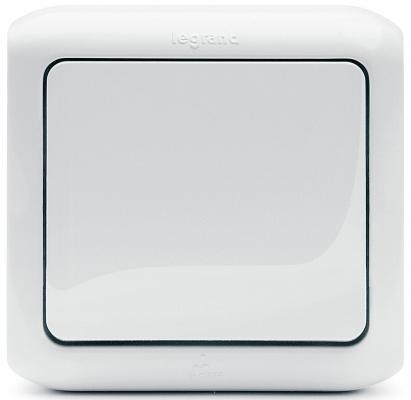 Выключатель Legrand Quteo 10А 1 клавиша белый 782304 выключатель двухклавишный наружный бежевый 10а quteo