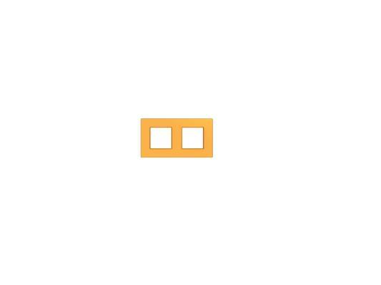 Рамка  UNICA QUADRO 2 поста оранжевый MGU4.704.29 bticino bt ll графит рамка овальная 2 2 2 мод lnb4802m3gf