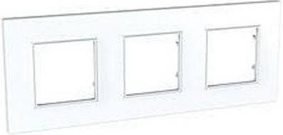 Рамка  UNICA QUADRO 3 поста белый MGU2.706.18 стоимость
