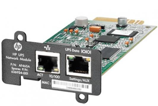 Адаптер HP UPS Network Module MINI-SLOT Kit for R1500 G3 R/T3000 G2 AF465A