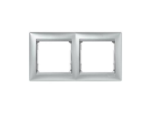 Рамка Legrand Valena 2 поста алюминий 770152 рамка legrand valena 2 поста алюминий серебряный штрих 770352