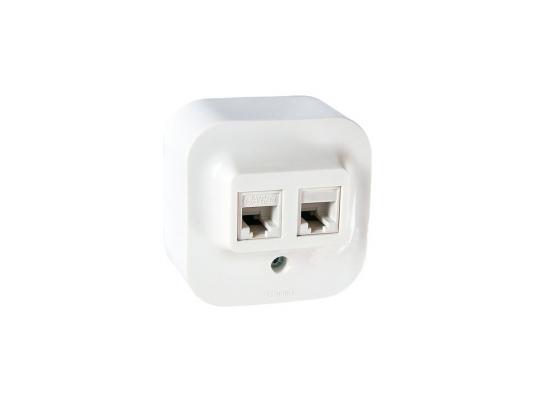 Розетка Legrand Quteo RJ11+RJ45 UTP кат.5е белый 782221 выключатель legrand quteo 10а 1 клавиша белый 782300