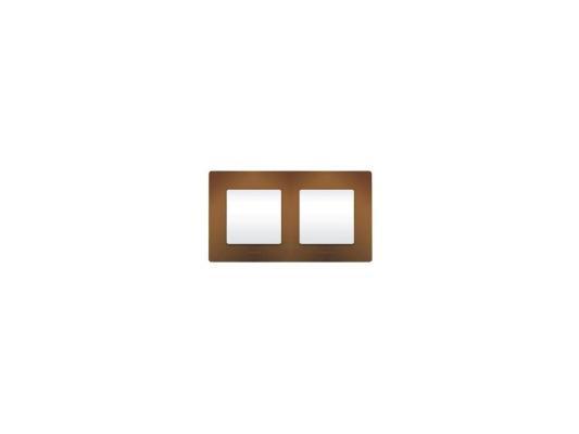 Рамка Legrand Etika 2 поста какао 672572 рамка для розеток и выключателей unica 2 поста цвет какао бежевый