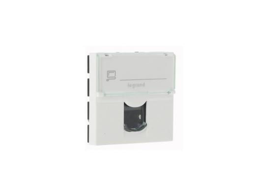 Розетка электрическая Legrand Mosaic RJ45 UTP кат.5е 2 мод. LCS2 76554 розетка itk для rj45 utp кат 5е 1 выход белый cs2 1c5eu 12