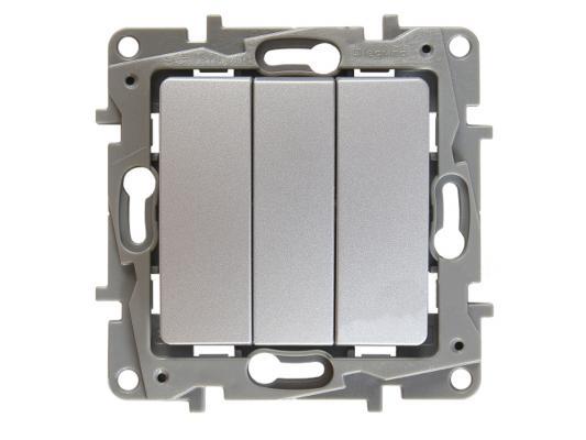 Выключатель Legrand ETIKA трехклавешный 10АХ алюминий 672413 от 123.ru
