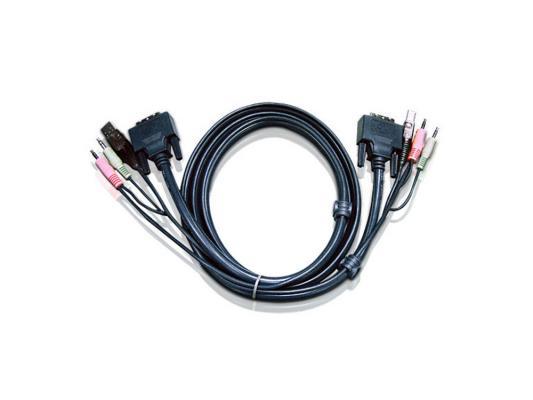 Кабель ATEN 2L-7D02UI DVI-I/USBA/SP.MC-DVI/USB B 1.8м