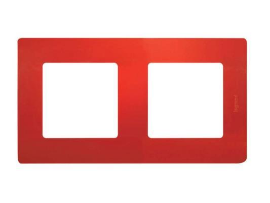Рамка Legrand Etika 2 поста красный 672532