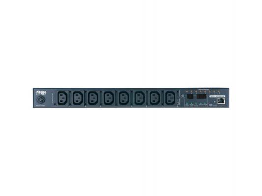 Блок распределения питания Aten NRGence PDU Metered by Outlet with Switching 1U 10A/230V 8хC13 C14 PE8108G-AX-G