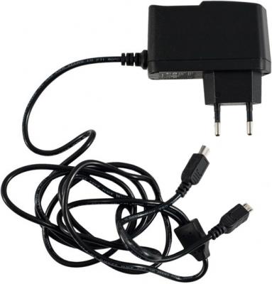 Сетевое зарядное устройство KS-is Mich KS-003 microUSB miniUSB 2А черный сетевое зарядное устройство tesla energy ch j2 5 2а черный