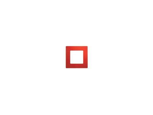 Рамка Legrand Etika 1 пост красный 672531