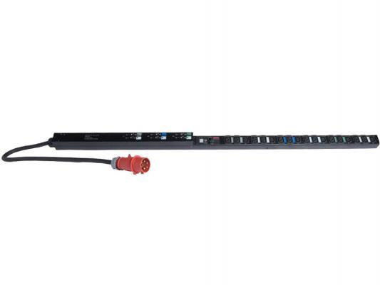 Блок распределения питания APC Rack PDU Metered ZeroU 22kW 230V Output: (12)C19 & (6)C13 Input: IEC 309 32A 3P+N+PE 0.91м AP7856