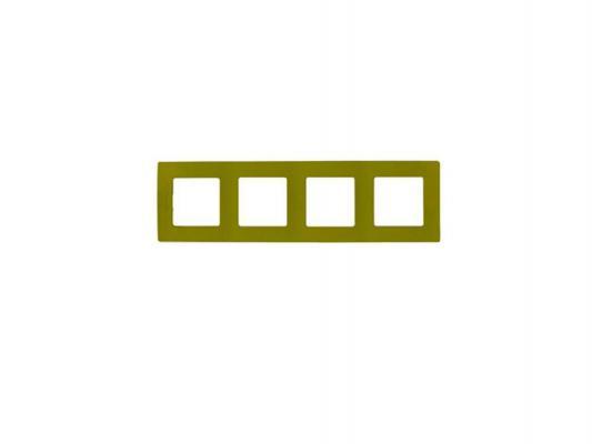 Рамка Legrand Etika 4 поста зеленый 672544