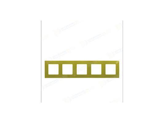Рамка Legrand Etika 5 постов зеленый 672545