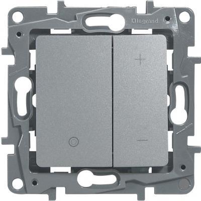 Светорегулятор Legrand ETIKA нажимной 400Вт алюминий 672418