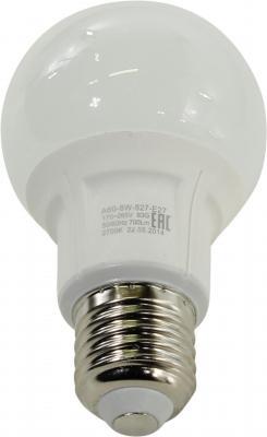 Лампа светодиодная груша Эра smd A60-8w-827-E27 E27 8W 2700K A60-8w-827-E27 лампа светодиодная эра led smd b35 7w 827 e14 clear
