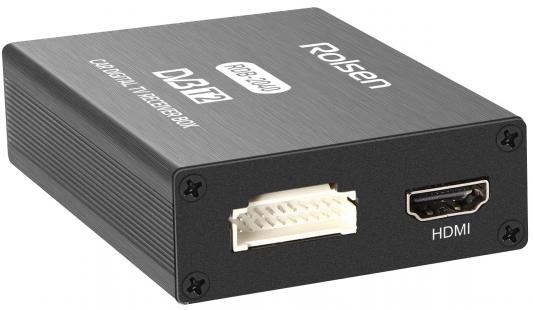 Тюнер цифровой автомобильный DVB-T2 Rolsen RDB-2040 черный USB