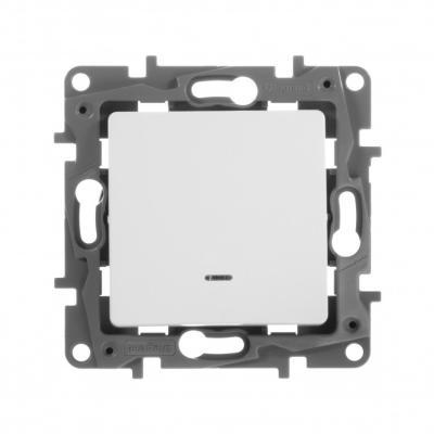 Выключатель Legrand Etika 10АХ с подсветкой белый 672215 мини плинтус legrand самоклеющийся 10 5х11 30098