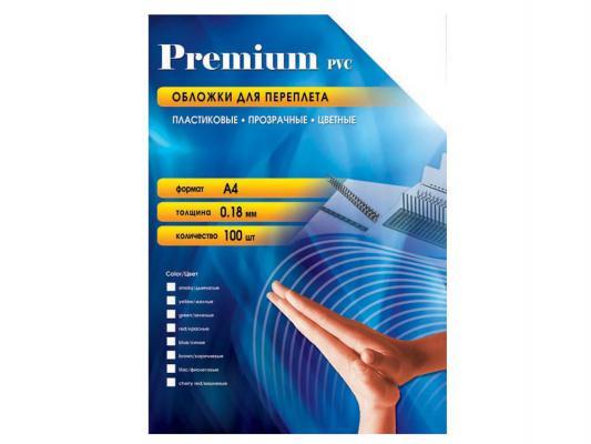 Обложки Office Kit PRA400180 А4 0.18мм прозрачный красный 100шт