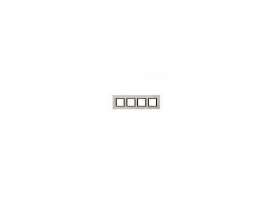 Рамка 4 пост серебристый Schneider Electric MGU68.008.7A2