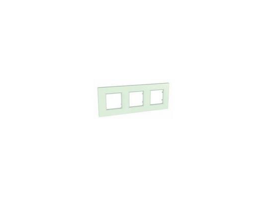 Рамка 3 пост матовое стекло Schneider Electric MGU2.706.17