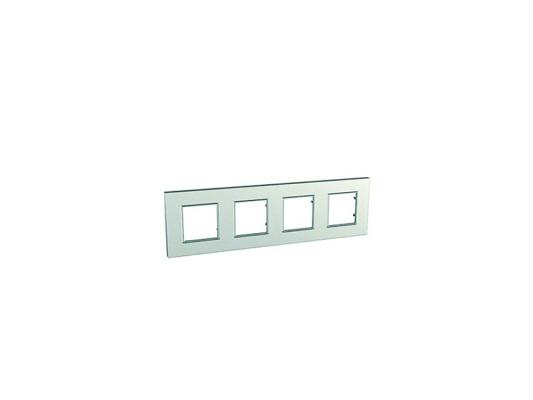 Рамка 4 пост серебристый Schneider Electric Unica Quadro MGU6.708.55 free shipping 10pcs max3244eewi