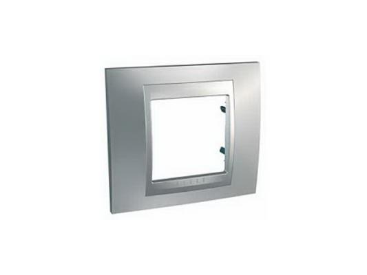 Рамка 1 пост серебристый Schneider Electric MGU66.002.038