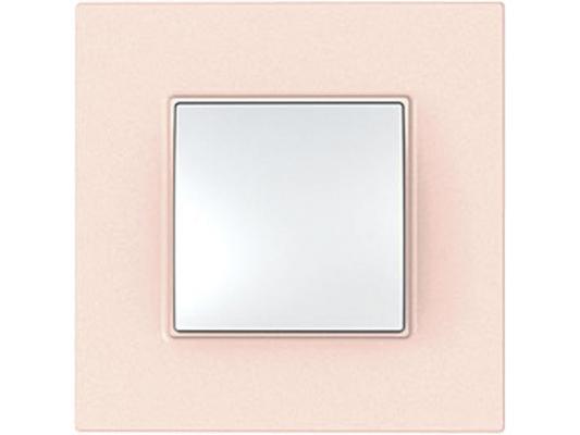 Рамка 1 пост розовый Schneider Electric Unica Quadro MGU4.702.37 цена