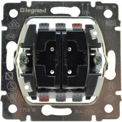Переключатель Legrand G.Life PRO21 двухклавишный 775808 выключатель двухклавишный наружный бежевый 10а quteo