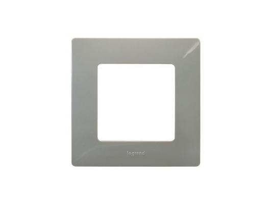 Купить Рамка Legrand Etika 1 пост светлая галька 672521, серый