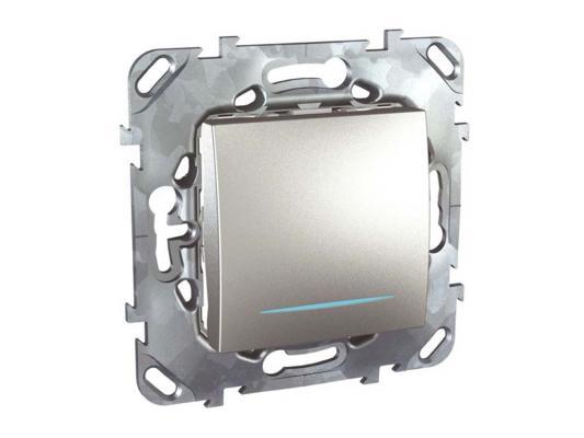 Выключатель Schneider Electric 1-клавишный с подсветкой серебристый MGU5.206.30NZD