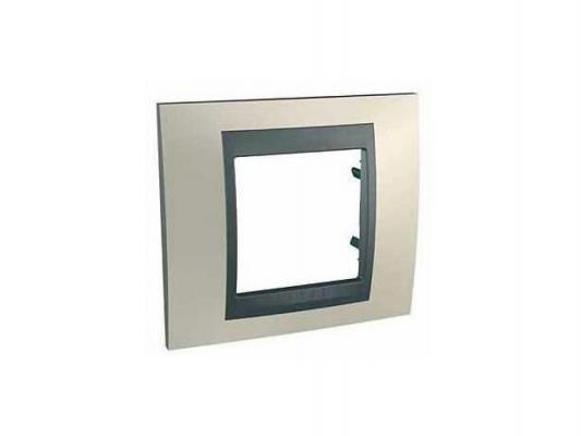Рамка 1 пост опал/алюминий Schneider Electric MGU66.002.095