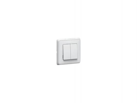 Выключатель Legrand Cariva 2-клавишный белый 773658