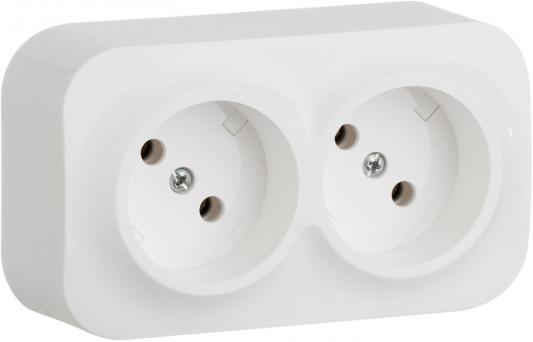 Розетка Legrand Quteo 2x2К белый 782212 выключатель 2 клавишный наружный ip44 белый 10а quteo