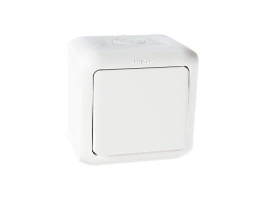 Выключатель Legrand Quteo 10А 1 клавиша белый 782300 выключатель двухклавишный наружный бежевый 10а quteo