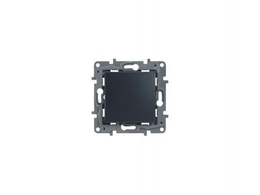 Переключатель Legrand ETIKA 10AX с подсветкой антрацит 672615
