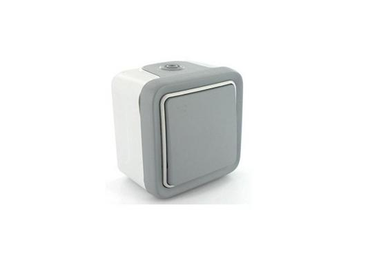 Переключатель Legrand Plexo 10А серый 69711 монтажная коробка legrand plexo 1 пост белый 69689