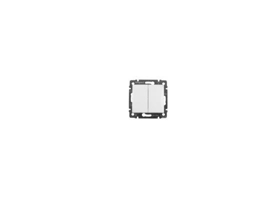 Переключатель Legrand Valena двухклавишный белый 770098 двухклавишный переключатель на 2 направления legrand quteo ip44 782301 белый