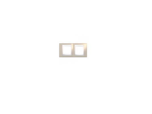 Рамка 2 пост коричневый/белый Schneider Electric MGU6.004.874 рамка 3 пост белый schneider electric m smart mtn478319
