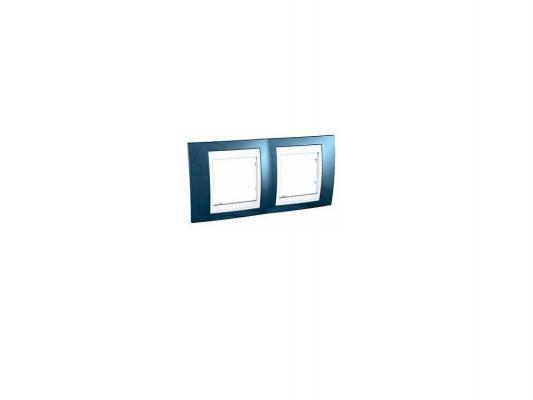 Рамка 2 пост голубой/белый Schneider Electric MGU6.004.854
