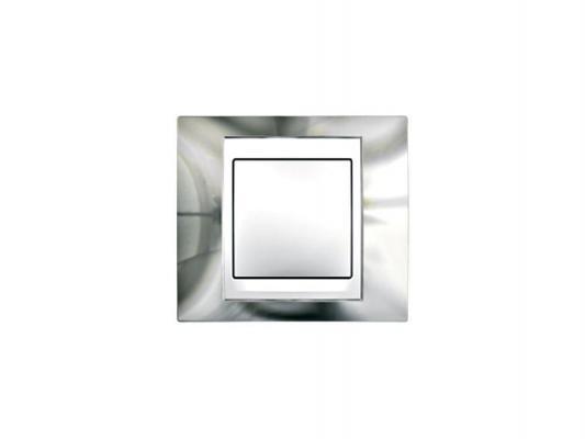 Рамка 1 пост серебристый/бежевый Schneider Electric Unica MGU66.002.510