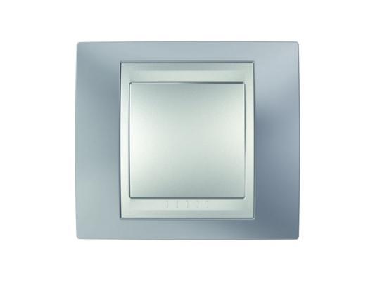 Рамка 1 пост серый/алюминий Schneider Electric Unica Top MGU66.002.097