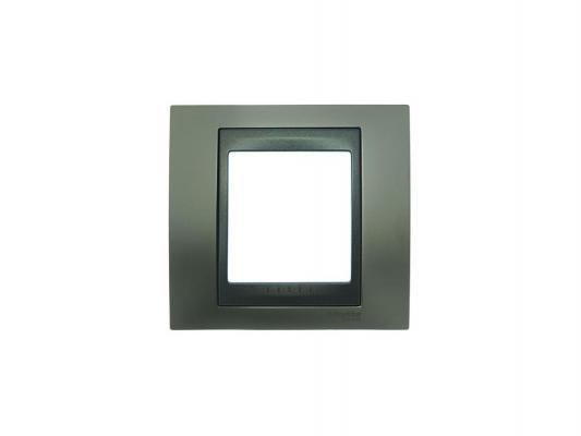 Рамка 1 пост никель/графит Schneider Electric Unica Top MGU66.002.239