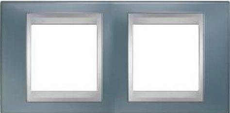 Рамка 2 пост серый/алюминий Schneider Electric Unica Top MGU66.004.097