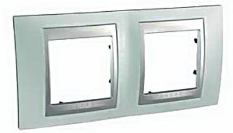 Рамка 2 пост флюорит/алюминий Schneider Electric Unica Top MGU66.004.094
